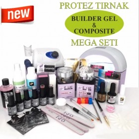 PROTEZ TIRNAK COMPOSİTE ve BUİLDER GEL  MEGA SETİ
