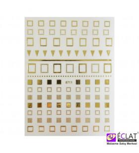 Altın Yapışkan Desenli Sticker No: 8711